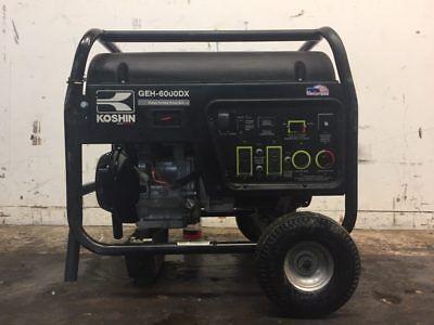 Koshin Geh-6000dx Gasoline Generator W Honda Gx340 Engine 8.2kw