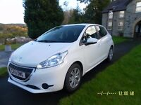 Peugeot 208 access plus,2013 reg. less than 14000mls.