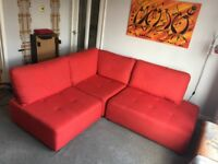 Corner Sofa - John Lewis - Red