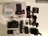 Canon 760D body only + Extras