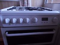 HOTPOINT HAG60P GAS COOKER (WHITE)