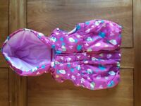 [EXCELLENT CONDITION] LOVELY WINTER SLEEVELESS JACKET WITH HOOD -12-18 MONTHS