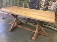 Excellent Reclaimed Elm Dining Table.