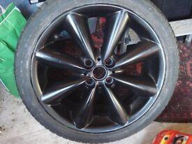 Mini Cooper S 17 inch black alloy wheel 4 stud