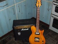 Cort cl200 electric guitar with Marshall MG30DFX amp