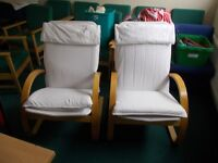 Ikea style Poang Chairs x2