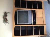 "Wall unit and 32"" TV"