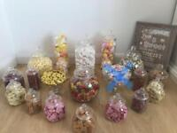 Wedding sweet jars / pick n mix jars with tongs and scoops