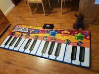 Piano Play Mat Kids Giant Keyboard Playmat Children Music Floor Fun Musical Toy