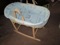 Moses Basket- Blue