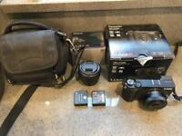 Panasonic GX80 Digital Camera with 12-32mm f3.5-5.6 and 25mm F1.7 lenses plus extras