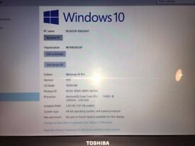 Toshiba Laptop, very good ondition