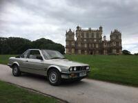 BMW 325i CONVERTIBLE 2.5i *AUTO* 1987 D-REG RARE HARDTOP CLASSIC WITH LOW MILES..!!