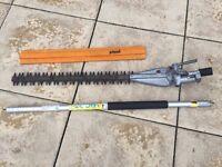 Stihl Kombi / Combi Long Reach Hedge Trimmer Attachment + 1M extension pole