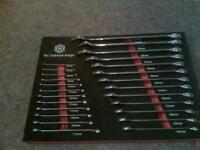 britool hallmarked 25pcs combination spanners as new