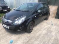 2014 63reg Vauxhall Corsa 1.3 CDTI Exclusive 5 Door Black Spares or repairs
