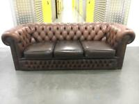 Genuine leather chesterfield sofa •free delivery