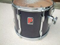 Premier Projector tom tom drum - Plinthed badge -3-ply Birch W/rings - Purple Sparkle -'90s