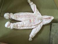 Girls Pram Suit snow suit 12-18 months