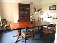 £160 ONO Solid wood dinning room table, chairs and dresser - all 6 chairs newly upholstered