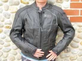 Grid Women Leather Armoured Motor Cycling Jacket Size 38 UK 10