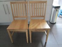2 solid wood heavy kitchen/dining chairs
