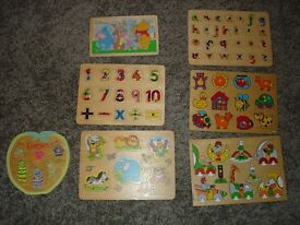 JIGSAWS WOODEN - EARLY LEARNING CENTRE TYPE
