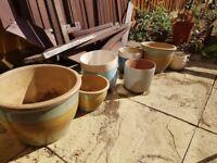 10 Garden flower pots variety - lovely set of 3