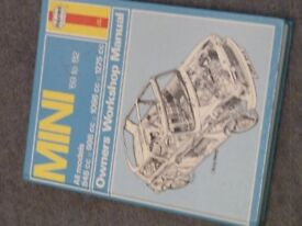 Haynes manual for a mini