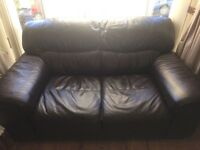 Leather sofas 2 seater and 3 seater great condition