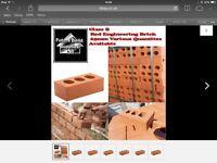 Red engineering bricks 65 mm