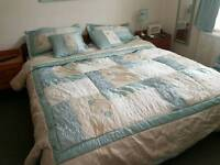 Superking Comforter in Duck Egg and Cream from Listers