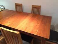 Dining set- table and 4 chairs