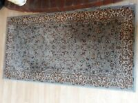 SMALL GREY MULTI COLOURED RUG FROM DUNELM FEW MONTHS OLD MEASURES APPROX 30 INCHES X 50 INCHES