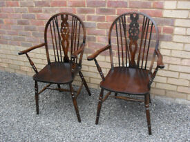 2no Country Kitchen Wheelback Chairs