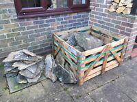Reclaimed stone patio approx 15m