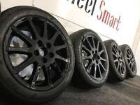 NEW GENUINE LEXUS 17'' ALLOY WHEELS & TYRES - 5 X 114.3 - 205 55 17 - CRSYSTAL BLACK - Wheel Smart