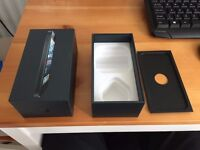 Iphone 5 ONLY BOX and cable with power adapter