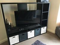 Black IKEA tv storage unit