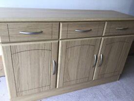 Oak veneered sideboard £40 ono