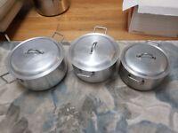 Pot set 3 pots Aluminium