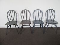 4 Ercol windsor dining chairs
