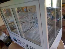 Polar counter top display fridge
