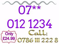 Brand New Mobile Sim Card Unused Gold Easy Memorable Number - 07** 012 1234 - £24.99 - * Cheap *