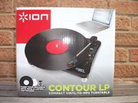 ION Contour LP Compact Vinyl-to-MP3 Turntable