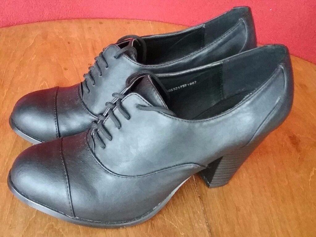 New Sainsbury's TU Black Heels Size 6