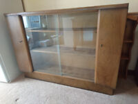 Glass Fronted Walnut Bookcase/Display Cabinet