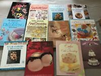 Collection of Sugarcraft, Cake, Wedding Cake books (See Image)