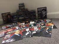 James Bond Car Collection with Magazines