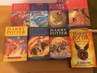 Complete set of 8 Harry Potter books, 4 are FIRST EDITION
